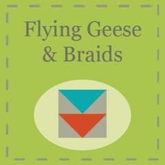 Flying Geese and Braids Paper by Triangles on a Roll 1 x 2