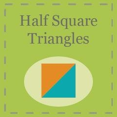 Half Square Triangles Paper by Triangles on a Roll 6 Finished Triangle