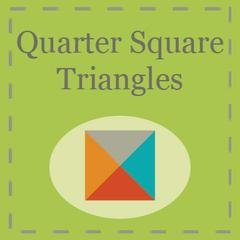 Quarter Square Triangles Paper by Triangles on a Roll 1.5 Finished Square