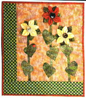 Sunflower Petite Quilt Pattern by Thimble and Thread