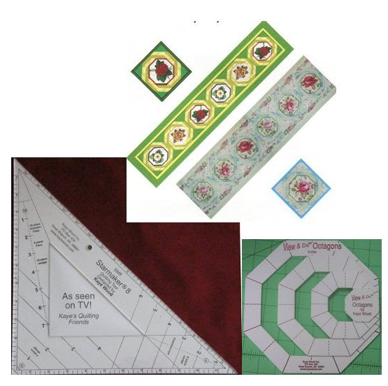 FREE Tumbling Winds Quarter Quilt Pattern Wiith Purchase Of View & Do Octagon and Starmaker 8 by Kaye Wood