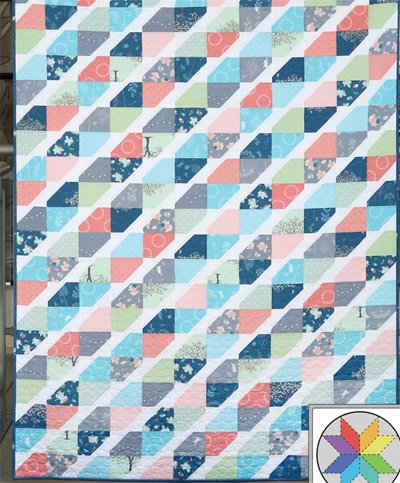 Twist Tie Quilt Pattern in 5 Sizes by A Bright Corner