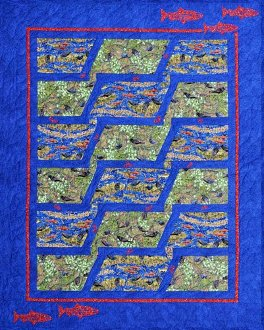 Upstream Lap Quilt Pattern by Quilts With A Twist