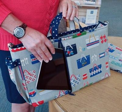 Urban Computer Satchel and Padded Sleeve Pattern  in 2 Sizes by Among Brenda's Quilts