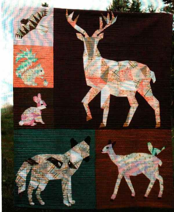 Forest Abstractions Quilt Pattern by Violet Craft