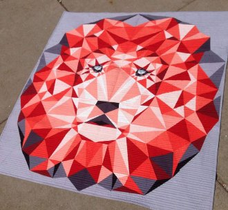 Jungle Abstractions Quilt - The Lion by Violet Craft