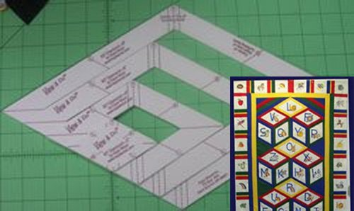 ABC Quilt Pattern FREE with View & Do Diamonds Shapes by Kaye Wood