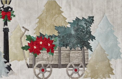 Wagon Quilt Block Pattern from the Joyeux Noel Quilt by McKenna Ryan