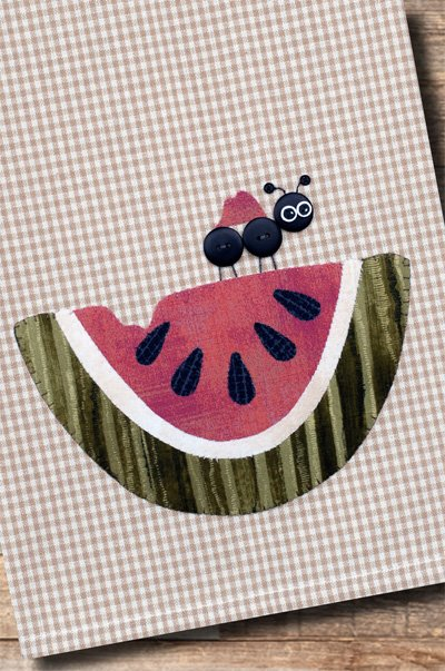 Watermelon Applique Pattern by The Wooden Bear