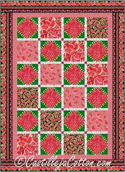 Watermelon Quilt Pattern by Castilleja Cotton