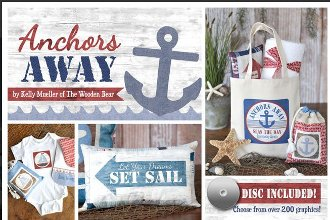Anchors Away Nautical Styled Patterns and Disc by The Wooden Bear