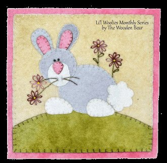 April Cottontail Applique Little Quilt Pattern by The Wooden Bear