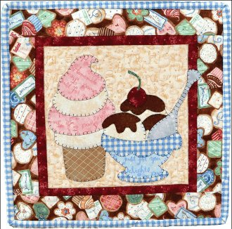 August Ice Cream Applique Pattern by The Wooden Bear