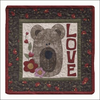 Be My Honey February Applique Pattern by The Wooden Bear
