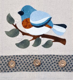 Blue Bird Patternlet by The Wooden Bear