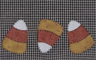 Candy Corn Applique Patternlet by The Wooden Bear