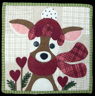 February My Deer Valentine Applique Pattern by The Wooden Bear