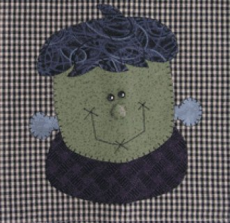 Frankie Applique Wallhanging Patternlet by The Wooden Bear