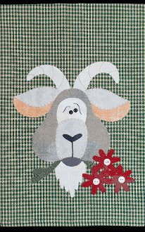 Goat Applique Wallhanging Patternlet by The Wooden Bear