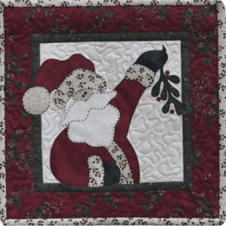 Ho Ho The Mistletoe Applique Pattern by The Wooden Bear