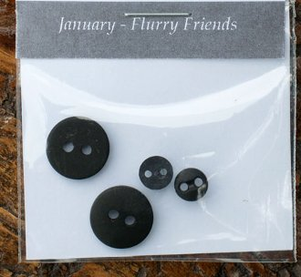 January Flurry Friends Button Pack by The Wooden Bear