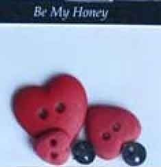 Be My Honey February Button Pack from The Wooden Bear
