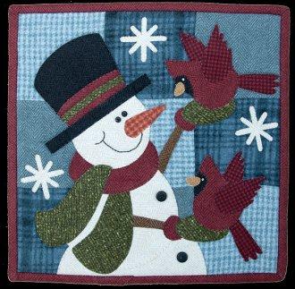 January Flurry Friends Little Quilt Pattern by The Wooden Bear
