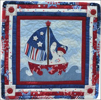 July Sailboat Applique Pattern by The Wooden Bear