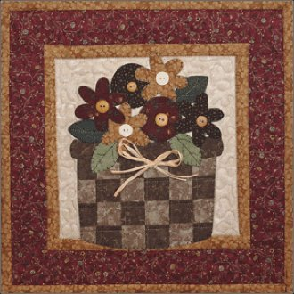 May Flowers Applique Pattern by The Wooden Bear