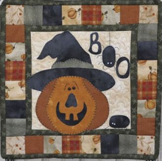 October Scare Applique Pattern by The Wooden Bear