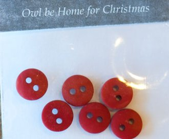 Owl Be Home For Christmas Button Pack by The Wooden Bear
