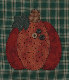 Pumpkin Applique Wallhanging Patternlet by The Wooden Bear