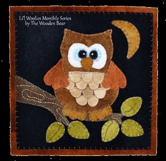 September Owl Wool Applique Pattern by The Wooden Bear