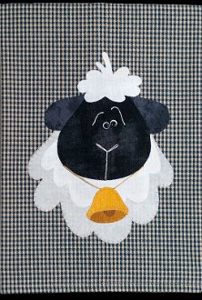 Sheep Applique Wallhanging Patternlet by The Wooden Bear