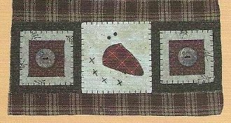 Square Snowman Applique Wallhanging Patternlet by The Wooden Bear