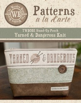 Yarned and Dangerous Knit Themed Stand Up Pouch by The Wooden Be