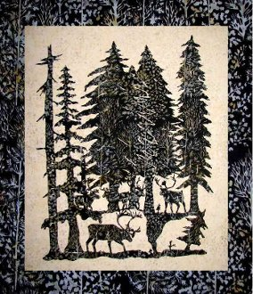 Out of the Forest Wallhanging Pattern by Willow Bend Creations