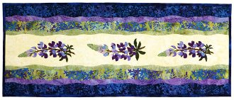 Bloomin' Lupine Table Runner Pattern by Wildfire Designs Alaska