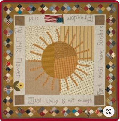 We All Need a LIttle Sunshine Quilt Pattern by Timeless Traditions