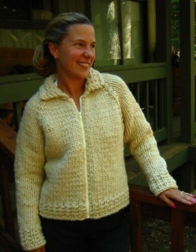Weekend Neck Down Jacket Pattern 234 by Knitting Pure and Simple