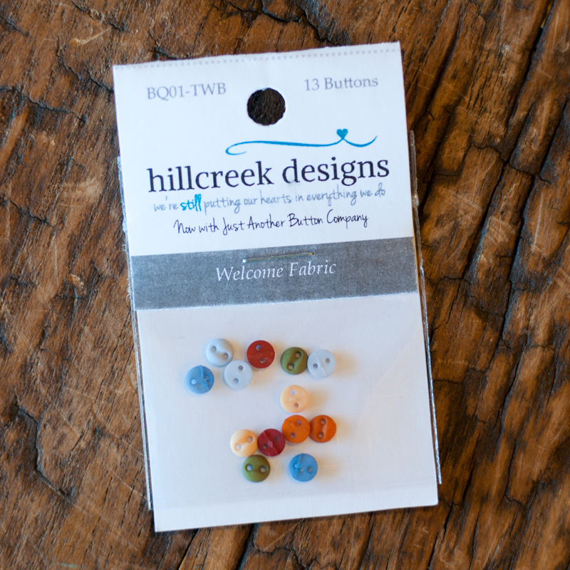Welcome Fabric Button Pack by The Wooden Bear