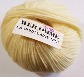 Welcomme La Pure Laine No 3 Yarn Color Yellow 12