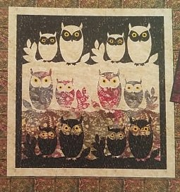 Whooos-It Throw, Wallhanging, Placemats Pattern by Quilt Design NW