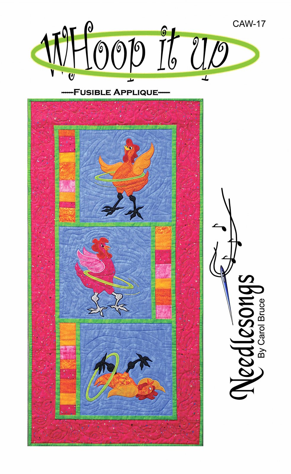 Whoop it Up Wallhanging Pattern by Needlesongs
