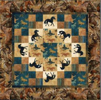 Wild Horses Wallhanging EPattern by Castilleja Cotton