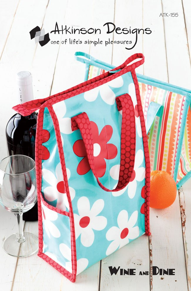 Wine and Dine Bag Pattern by Atkinson Designs