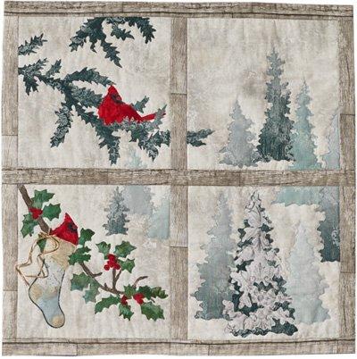 Window Block Pattern from the Joyeux Noel Sampler Quilt Pattern by McKenna Ryan