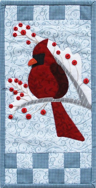 Winter Cardinal Wallhanging EPattern by Patch Abilities