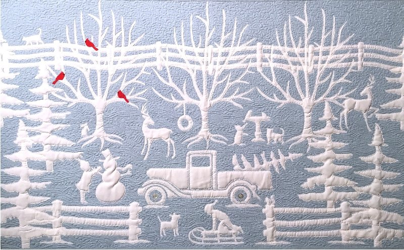 Winter in Wedgewood Wallhanging Design by Paha Sapa Traders