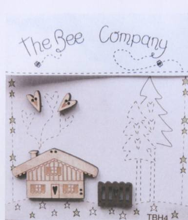 Winter Buttons Set of 4 by The Bee Company
